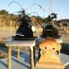 花台と干支のサル